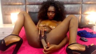 NycolleWild – Ebony Girl Enjoys It Too Much!