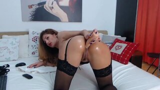 AmyLaFleur – Punishing Lubricated Ass And Dildo Tasting